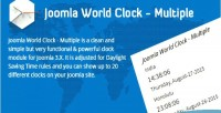 World joomla clock multiple