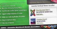 Vertical joomla news scroller