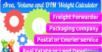 Volume area & calculator weight dim