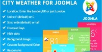 Weather city for joomla