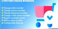 2 magento number order custom