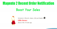2 magento recent notification order sales your boost