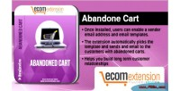 Abandoned magento cart extension