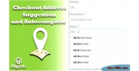 Address checkout autocomplete & suggestion