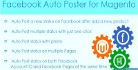 Auto facebook magento for poster