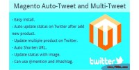 Auto magento update twitter on product