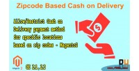 Based zipcode cash magento2 delivery on