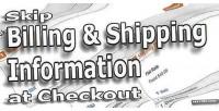 Billing skip shipping checkout at information
