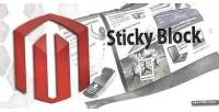 Block sticky for magento