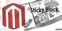 Block sticky for magento