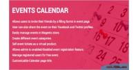Calendar events extension 2 magento