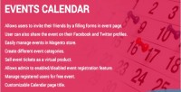 Calendar events extension 2 magento