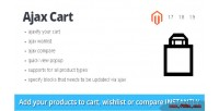 Cart ajax magento extension