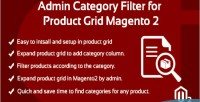 Category admin filter product for 2 magento grid