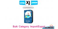 Category bulk import export