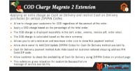 Charge cod exension 2 magento