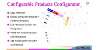 Configurable magento products configurator