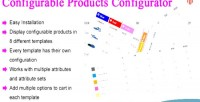 Configurable magento products configurator