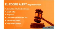Cookie eu extension magento2 alert