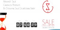 Countdown sale timer