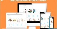 Countdown sm product responsive slider module 2 magento
