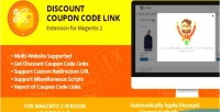 Coupon discount code extension link 2 magento for