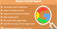 Custom google extension magento search