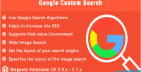 Custom google search extension 2 magento