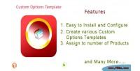 Custom magento options templates