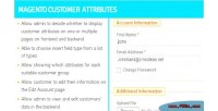 Customer magento attributes