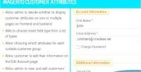 Customer magento attributes