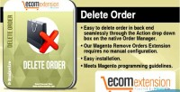 Delete magento order extension