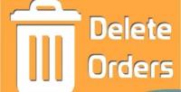 Delete magento orders