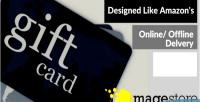 Designed magento like card amazon gift s