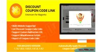 Discount coupon code link magento for extension