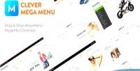 Drag clevermegamenus drop 2 magento extension menu mega