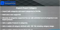 Export import categories