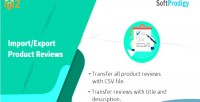 Export import product extension magento2 reviews