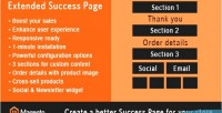 Extended magento success page