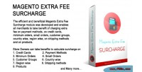 Extra magento fee surcharge