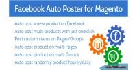 Facebook magento auto poster