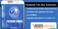 Fan facebook box magento for extension