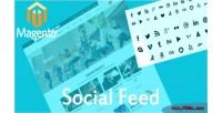 Feed social media tabs sliding