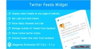 Feeds twitter widget