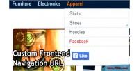 Frontend custom navigation url