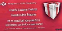 Gift magento registry extension