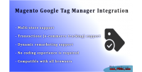 Google magento integration manager tag