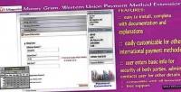 Money gram western union extension method payment