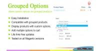 Grouped magento options
