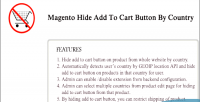 Hide magento add cart to country by button
